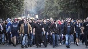 Europa League, i tifosi del Lione invadono Roma