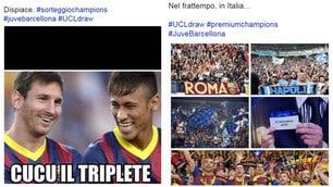 La Juventus ritrova il Barcellona. E il web se la ride