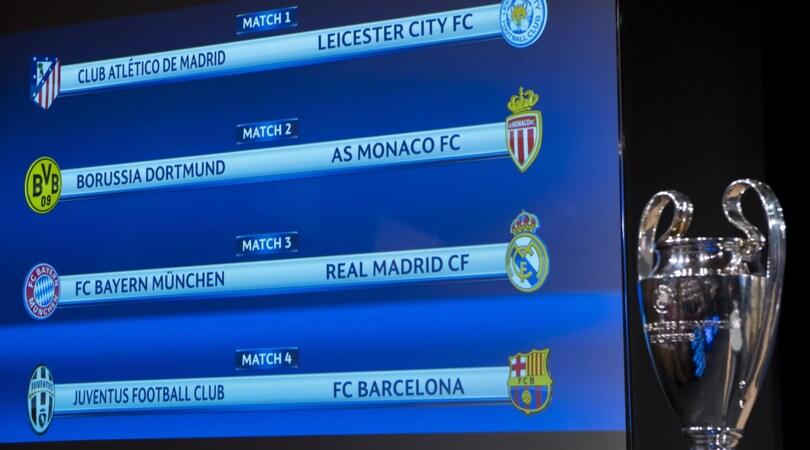 Calendario Champions Quarti.Champions League Il Programma Dei Quarti Di Finale