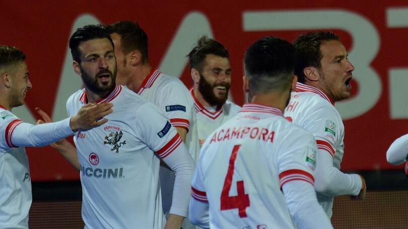 Serie B Perugia-Benevento 3-1: Nicastro, Di Carmine e Acampora