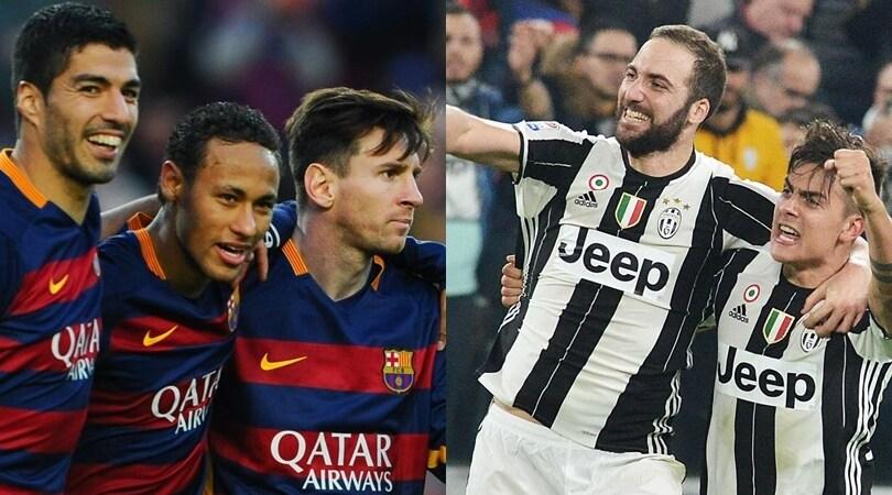 Juventus-Barcellona: una sfida da 1,5 miliardi di euro
