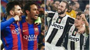Barca-Juve, una sfida Champions da 1,5 miliardi di euro