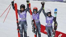 Sci: le immagini della tripletta azzurra ad Aspen