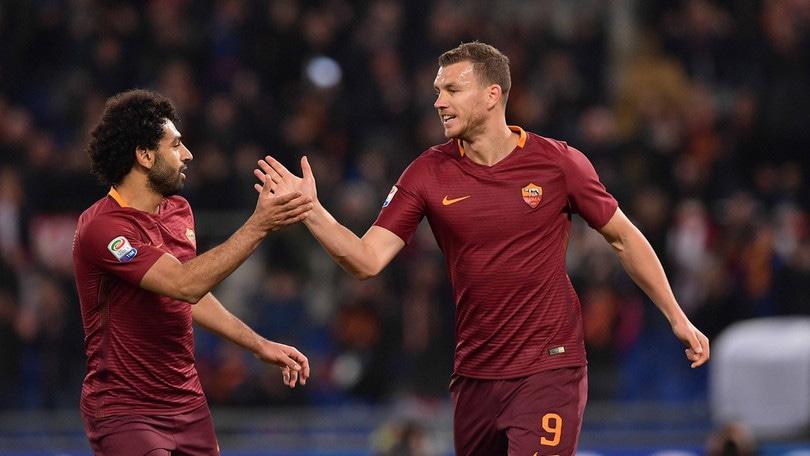 Serie A, Roma-Sassuolo 3-1: Paredes, Salah e Dzeko ribaltano la rete di Defrel