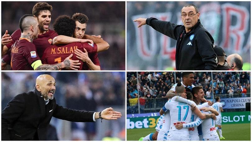 Serie A, corsa al 2° posto tra Roma e Napoli: decide la Juventus