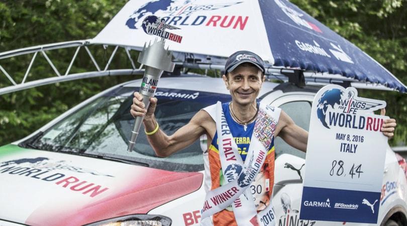 Wings for Life World Run 2017. Riuscirà Giorgio Cacaterra a difendere il titolo?