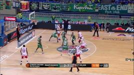 Panathinaikos-Olimpia Milano 74-61