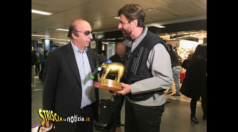 Tapiro d'oro a Luciano Moggi: «Non è una radiazione definitiva»
