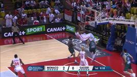 Monaco-Dinamo Sassari 73-62 (quarti, andata)