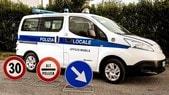 Nissan, l'ufficio mobile della polizia è 100% elettrico