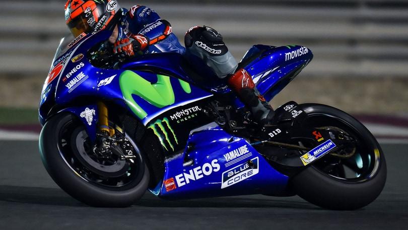MotoGp Qatar, prime libere: Vinales in testa, Rossi nono