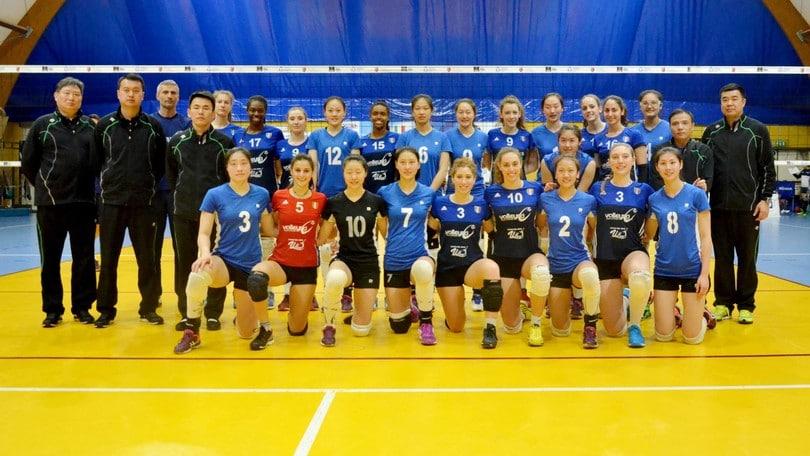 Volley: il Volleyrò si allena insieme alle cinesi del Jiangsu