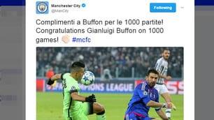 Dal City al Bayern, quanti messaggi per le 1000 partite di Buffon