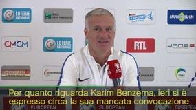 """Deschamps fa muro su Benzema: """"Non c'entra niente"""""""
