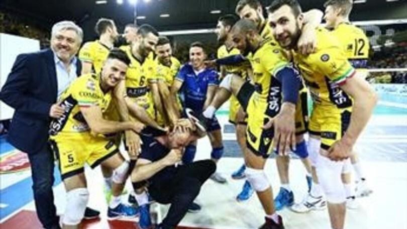 Volley semifinale play off modena in casa non perdona for Casa modena volley