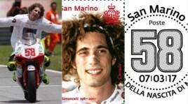 Coriano, presentato ufficialmente il francobollo per Simoncelli