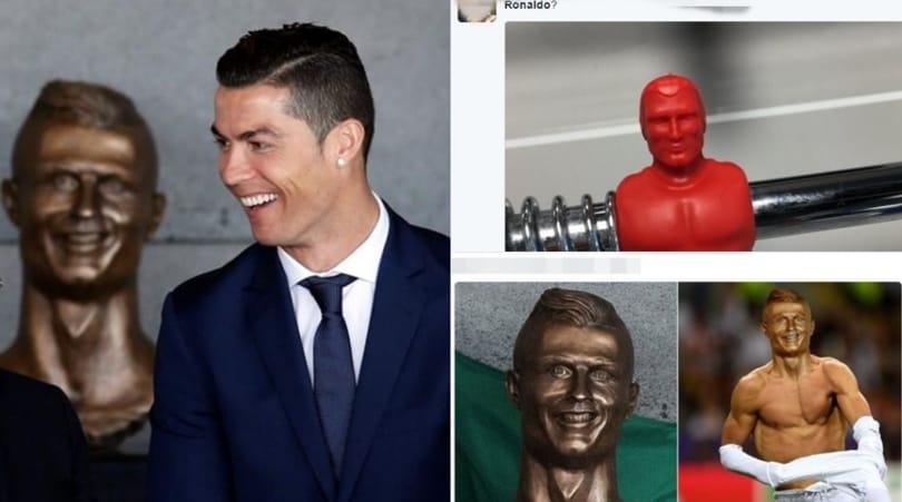 Statua Cristiano Ronaldo, l'autore: «CR7 vuole togliere le rughe»