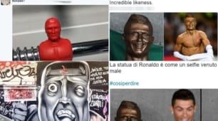 Ronaldo, il busto a Madeira scatena le ironie del web
