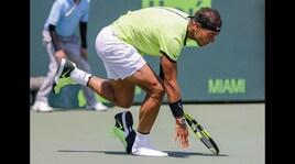 Miami Open, Nadal va in finale ma perde una scarpa