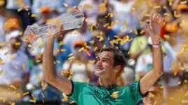 Re Federer di Miami: Nadal ko in finale