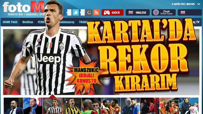 I media turchi spaventano la Juve: «Mandzukic interessato al Besiktas»