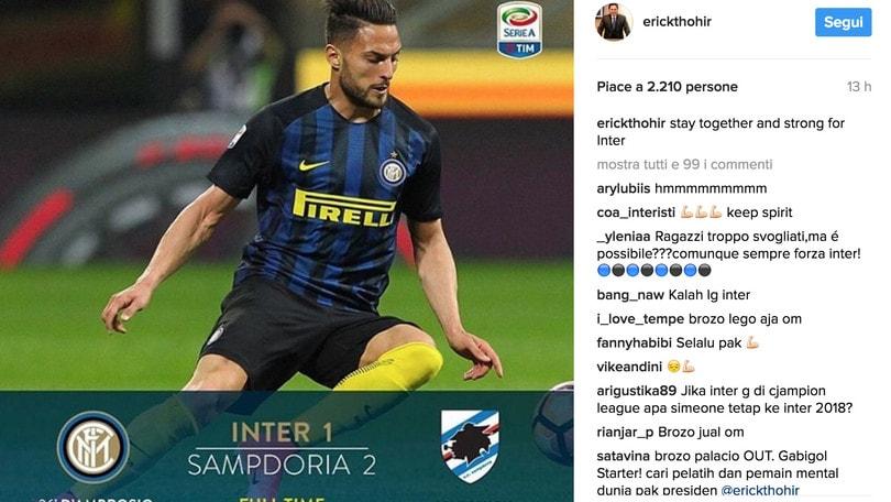 Thohir sprona l'Inter