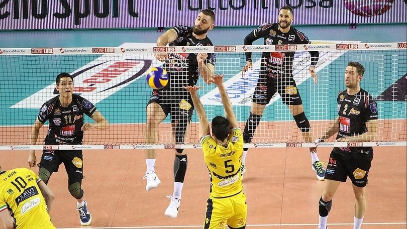 Volley, domani Lube-Modena per la gloria in Champions