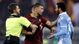 Roma-Lazio, che scintille tra Dzeko e Felipe Anderson!