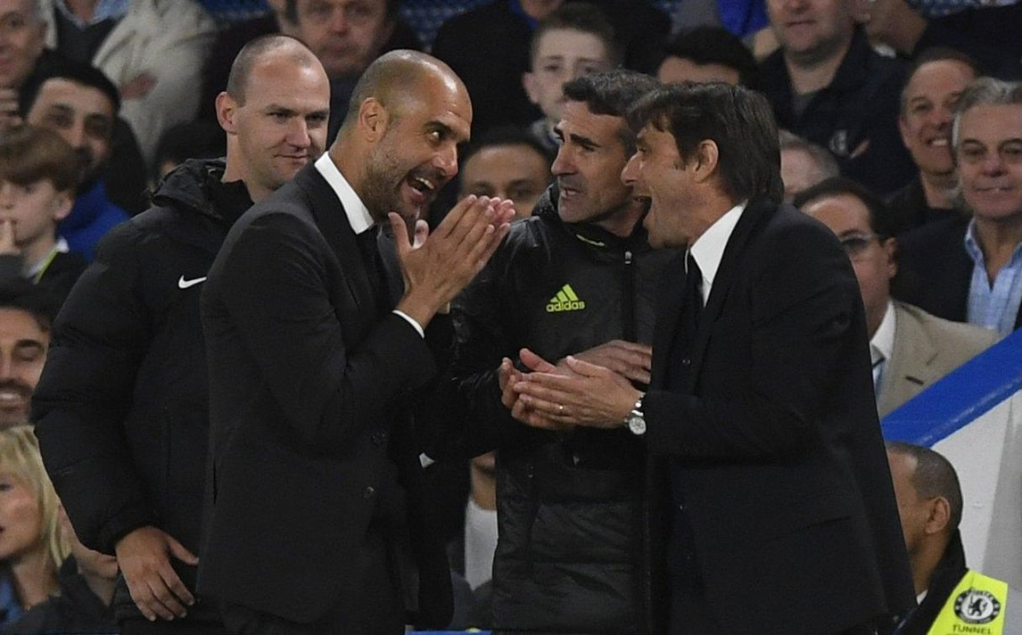 Conte e Guardiola, lite a bordocampo durante Chelsea-Manchester City
