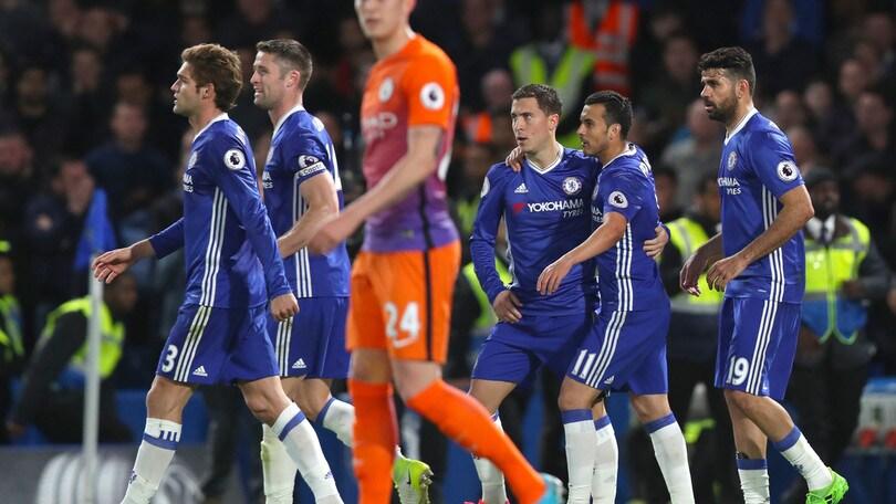 Premier League: Chelsea ok con il Manchester City, Conte mantiene il +7 sul Tottenham