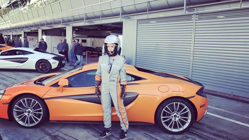 Wanda Nara pilota a Monza