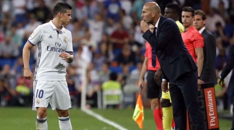 Real Madrid, Zidane convoca James Rodriguez e Bale per la prima di Liga
