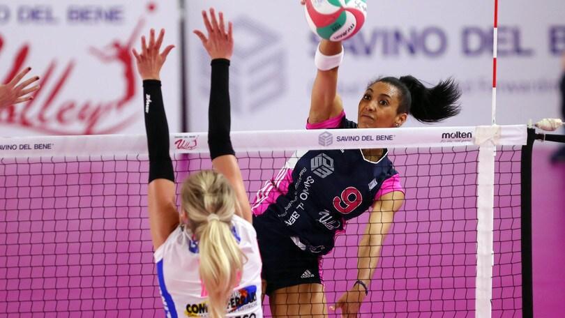 Volley: A1 Femminile, Scandicci perfetta, travolta Novara