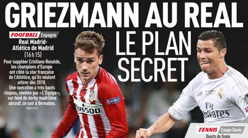 Calciomercato: «Griezmann al Real Madrid, il piano segreto»