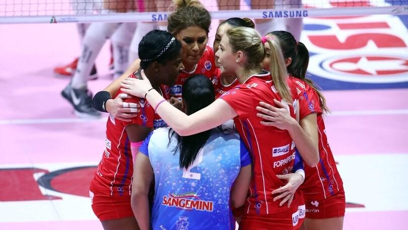 Volley: A1 Femminile, Bergamo doma Modena al quinto