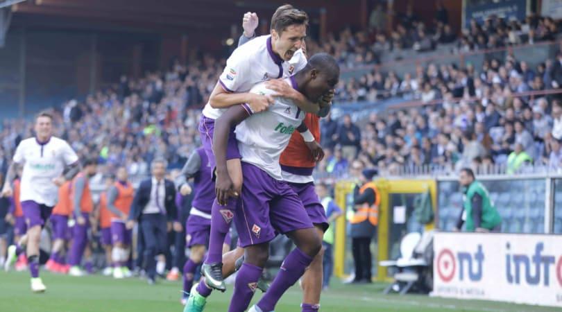 Serie A, Sampdoria-Fiorentina 2-2: Babacar completa la rimonta