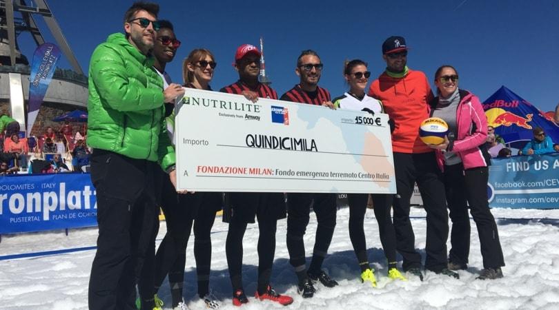 Nutrilite, solidarietà ad alta quota: primo charity match di pallavolo sulla neve