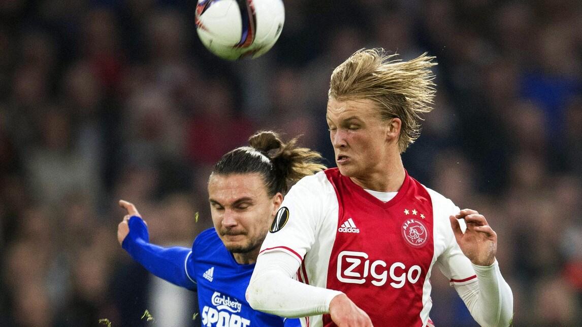 Kasper Dolberg, 19 anni, punta danese dell'Ajax