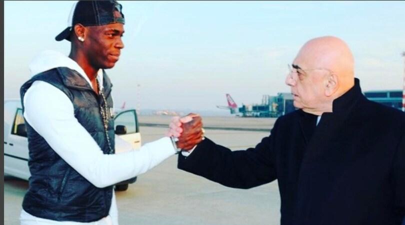 Balotelli: «Grazie Galliani, sei un amico. E forza Milan nel derby»