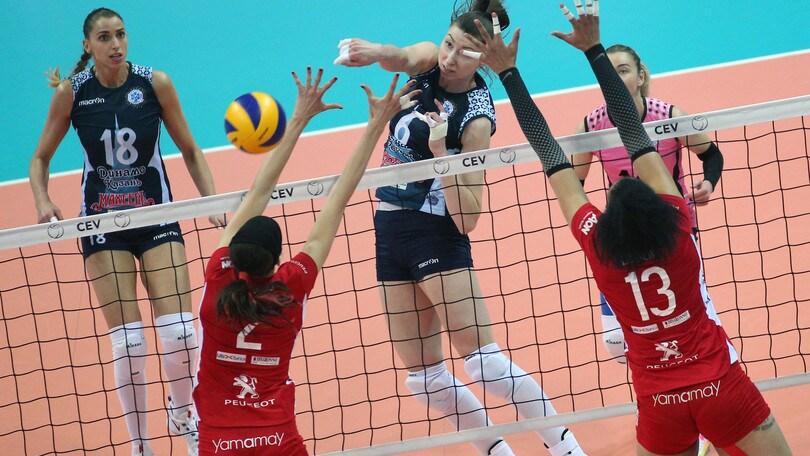 Volley: Cev Femminile, Busto culla il sogno ma la Coppa la alza la Dinamo