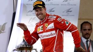 Festa Ferrari in Bahrain! Vettel balla sul podio
