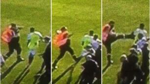 Clamoroso a Bastia: lo steward colpisce un giocatore del Lione