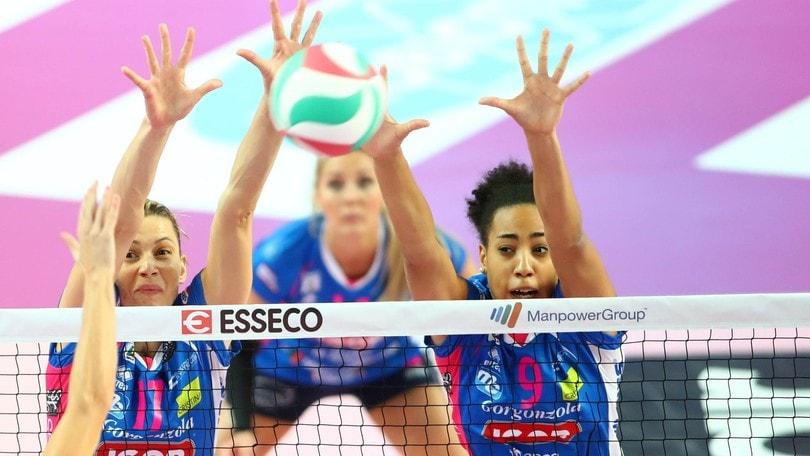 Volley: A1 Femminile, Novara vince 3-1 e va 1-1