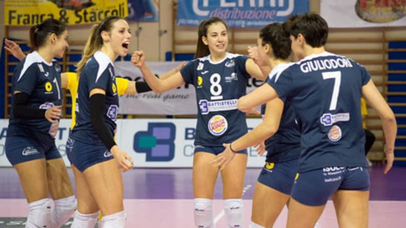 Volley: A2 Femminile, Soverato e Battistelli vincono Gara 1 dei Quarti