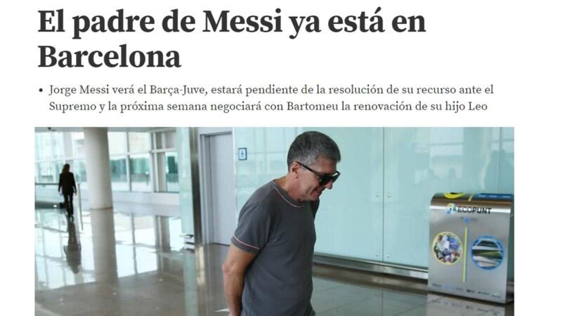 Jorge Messi a Barcellona: prima la Juventus, poi il contratto
