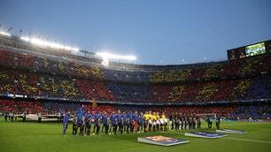 Champions League, Barcellona-Juventus: la coreografia del Camp Nou