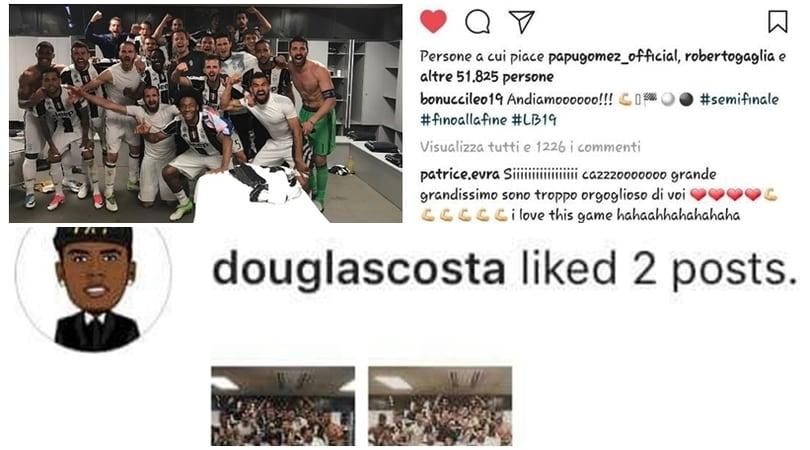 Juve, da Douglas Costa a Gagliardini apprezzamenti social