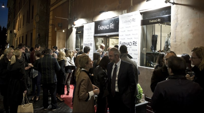 Farhad Re inaugura a Roma la prima boutique