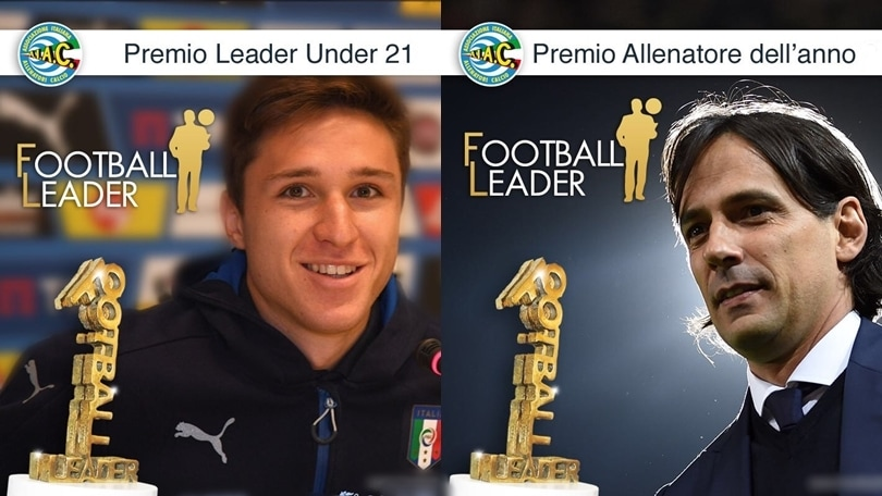 Football leader 2017: premi a Inzaghi e Chiesa