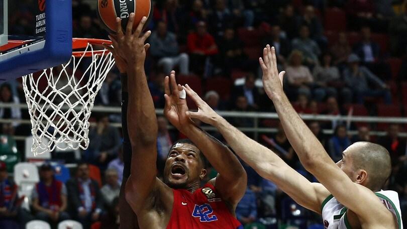 Eurolega, Hines salva il CSKA. Baskonia ko